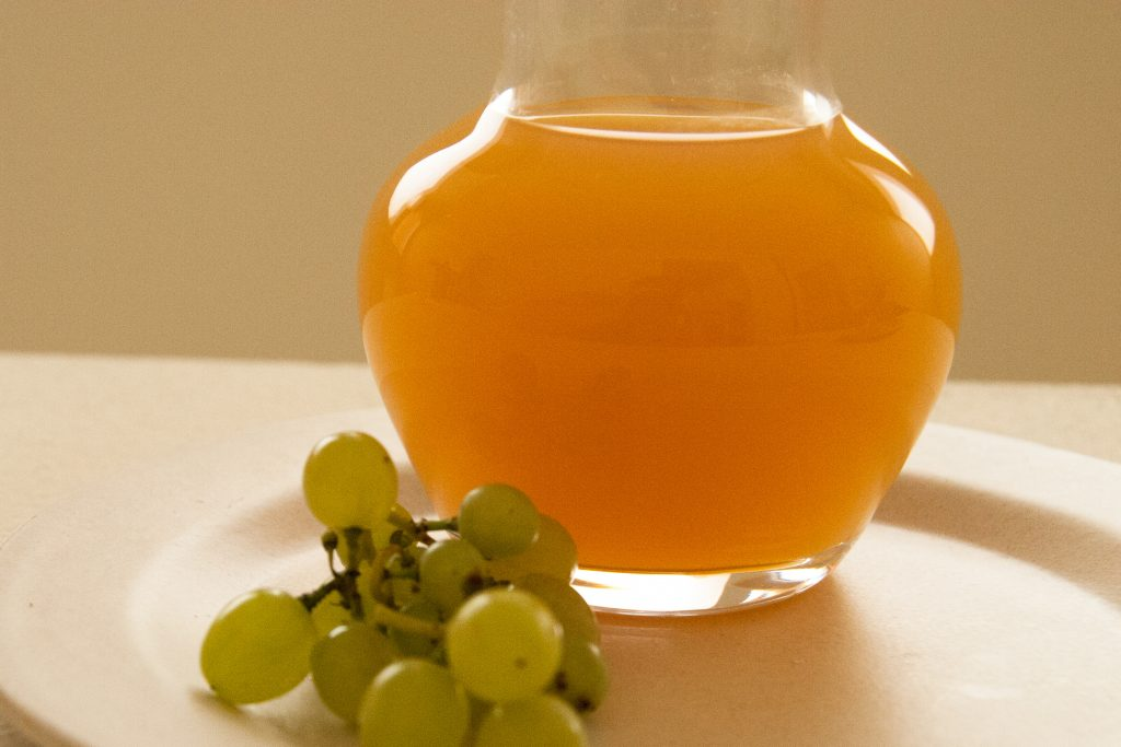 Use unripe grapes to make a lemon juice substitute.