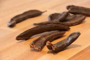 cleaned carob pods