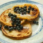 Swedish pancakes with blueberries